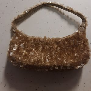 Sequined mini baguette bag NWOT